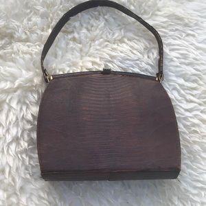 Handbags - VTG  STRUCTURED LIZARDSKIN PURSE